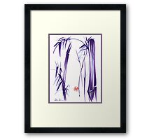 """Lilac Bamboo Forest"" Original ink and wash chinese brush painting Framed Print"