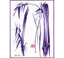 """Lilac Bamboo Forest"" Original ink and wash chinese brush painting Photographic Print"