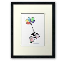 Balloon Cow Framed Print