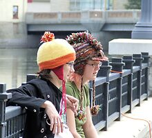Portrait of young couple at fest by k253