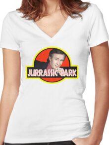 """Alan Partridge """"JURASSIC PARK"""" Women's Fitted V-Neck T-Shirt"""
