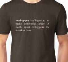 Definition of Embiggen - White Unisex T-Shirt