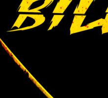 KILL BILL - Minimal Gory Poster Design Sticker