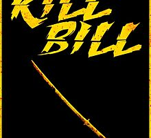 KILL BILL - Minimal Gory Poster Design by doughballdesign