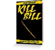 KILL BILL - Minimal Gory Poster Design Greeting Card