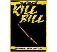 KILL BILL - Minimal Gory Poster Design Photographic Print