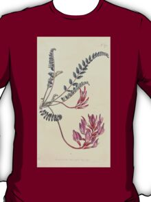 The Botanical magazine, or, Flower garden displayed by William Curtis V11 V12 1797 1798 0034 Astragalus Monspessulanus Montpelier Milk Vetch T-Shirt