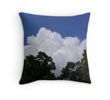 """""""White Cloud -  Over the Pocono Mountains, Pa."""" Throw Pillow"""