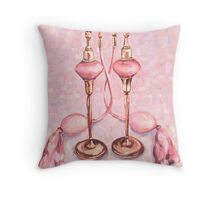 Pink Perfume Twins Throw Pillow