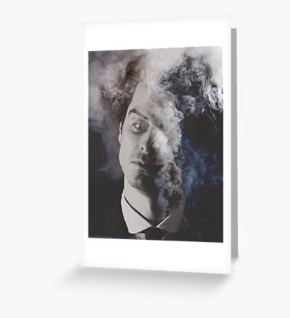 BBC Sherlock: Moriarty in smoke Greeting Card