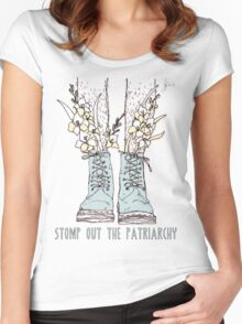 STOMP OUT THE PATRIARCHY Women's Fitted Scoop T-Shirt