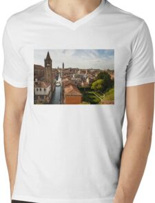 Red Roofs of Europe - Venetian Canals, Palaces, Gardens and Courtyards Mens V-Neck T-Shirt