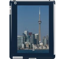 Up Close and Personal - CN Tower, Toronto Harbor and the City Skyline From a Boat iPad Case/Skin