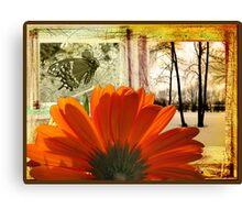 Scrapbook of a Flower Canvas Print