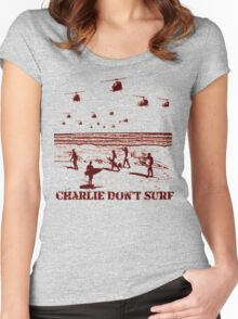 Apocalypse Now Charlie don't surf T-Shirt Women's Fitted Scoop T-Shirt