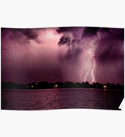High Cloud Lightning Strike Poster
