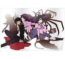Main Charakters Monogatari Poster