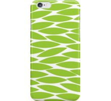 Abstract Leaf Design - Martian Green iPhone Case/Skin