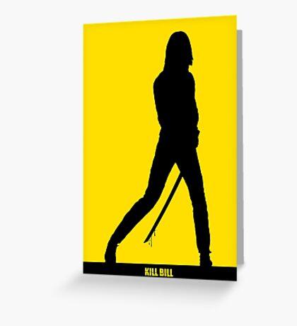 KILL BILL - Minimal Silhouette Poster Greeting Card