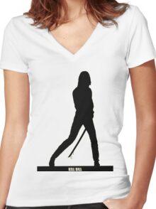 KILL BILL - Minimal Silhouette Poster Women's Fitted V-Neck T-Shirt