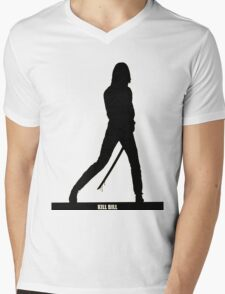 KILL BILL - Minimal Silhouette Poster Mens V-Neck T-Shirt