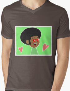 Afro Lover Mens V-Neck T-Shirt