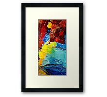Abstract water color full Samsung Case Framed Print