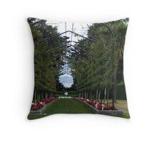 Garden walk - Larnarch Castle- Dunedin Throw Pillow