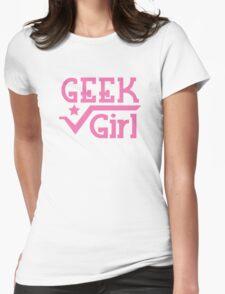 GEEK Girl cute girly pink nerd design T-Shirt