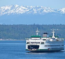 Edmonds Ferry on Puget Sound by Barb White