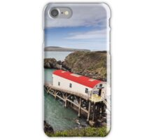 RNLI Lifeboat Station, St Justinians, Pembrokeshire iPhone Case/Skin