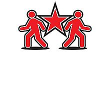 Dancing shuffle man RED STAR Photographic Print