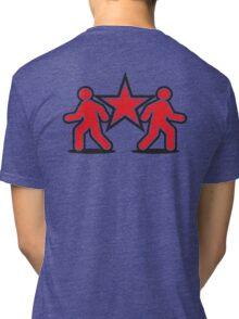 Dancing shuffle man RED STAR Tri-blend T-Shirt