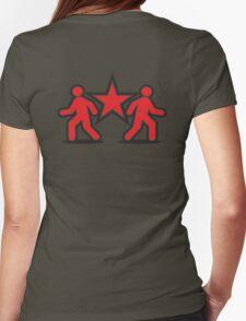 Dancing shuffle man RED STAR Womens Fitted T-Shirt