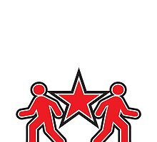 Dancing shuffle man RED STAR by jazzydevil