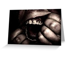 Ripping open mouth Greeting Card