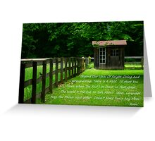 There Is A Field Greeting Card