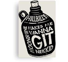 NEW Fun Redneck/Hillbilly Moonshine T-shirt  Canvas Print