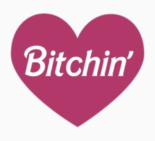 Bitchin' Barbie Pink Heart Design Kids Tee