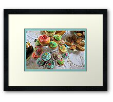Cup cakes for afternoon tea. Framed Print