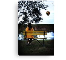 Haley at Lake Parker in Florida Canvas Print