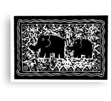 Elephant and Calf Canvas Print