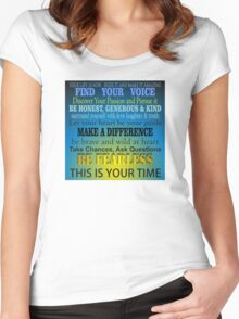Your Life is Now - Inspirational Women's Fitted Scoop T-Shirt
