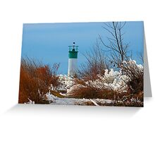 November lighthouse Greeting Card