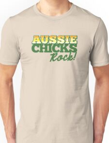 Aussie Chicks Rock! Unisex T-Shirt