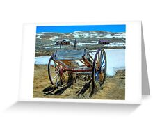 Bodie, CA antique wagon Greeting Card