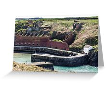 Hoppers and Crusher, Porthgain Harbour, Pembrokeshire Greeting Card
