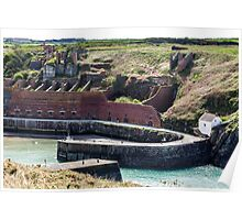 Hoppers and Crusher, Porthgain Harbour, Pembrokeshire Poster