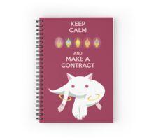 Keep Calm - Kyubey Edition Spiral Notebook