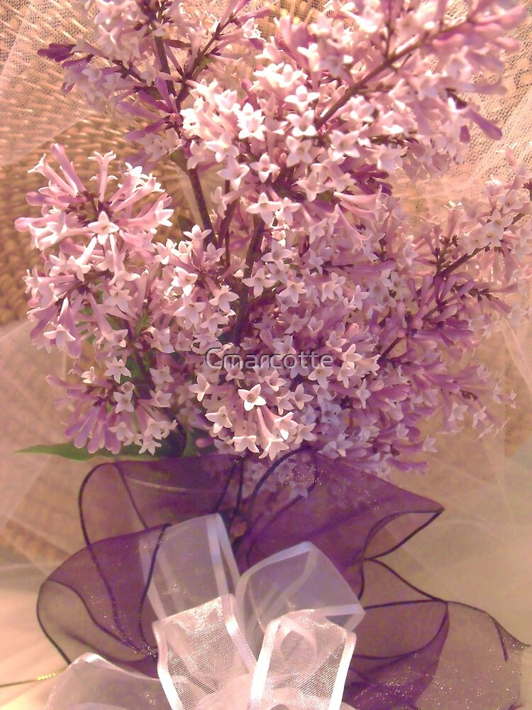 Lilacs with ribbon by Cmarcotte